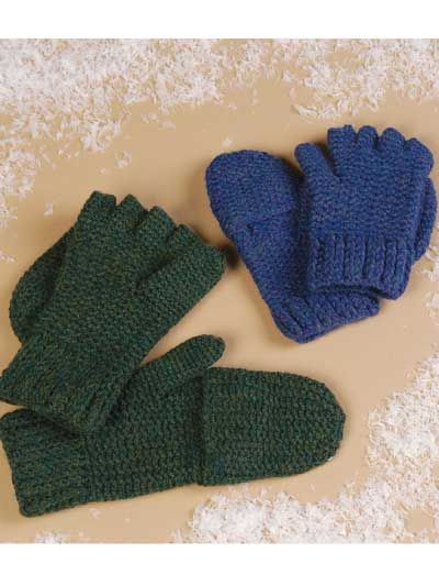 Free Crochet Pattern For Mittens With Flap