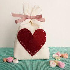 DIY Muslin Valentine's Day Treat Bags