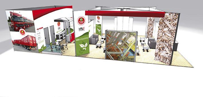 Progetto grafico stand per Fiera Ecomondo.