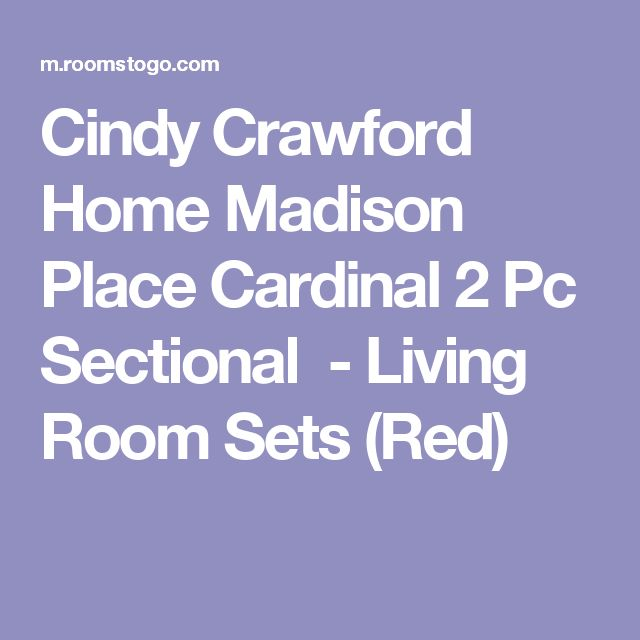 Cindy Crawford Home Madison Place Cardinal 2 Pc Sectional-Living Room Sets (Red)