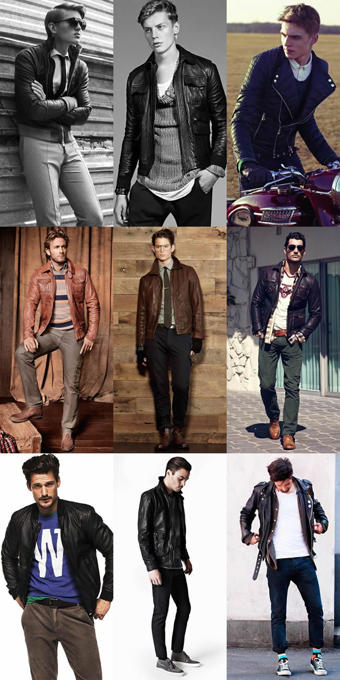 Mens Leather Jacket Lookbook | Timmy Trendy | Pinterest | Men's ...