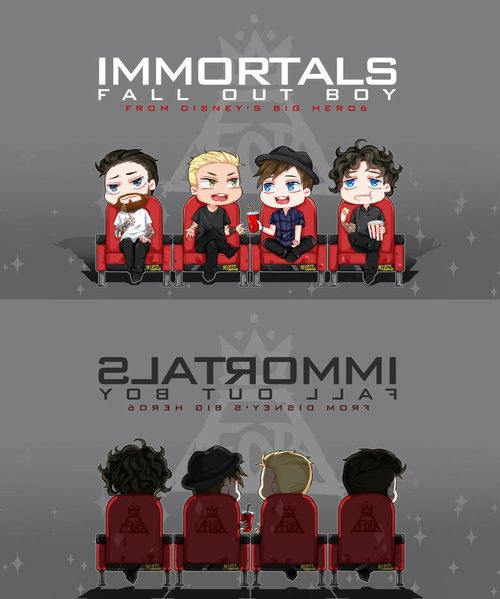 fall out boy, immortals, and fanart afbeelding