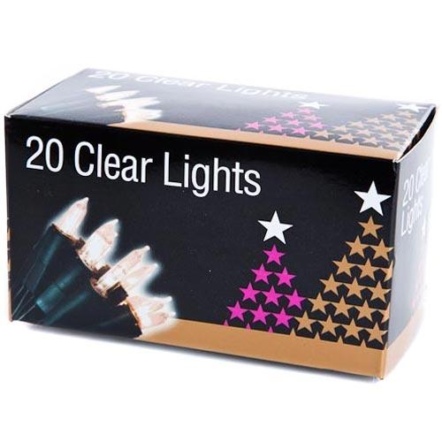 24 Clear Christmas Lights | Poundland