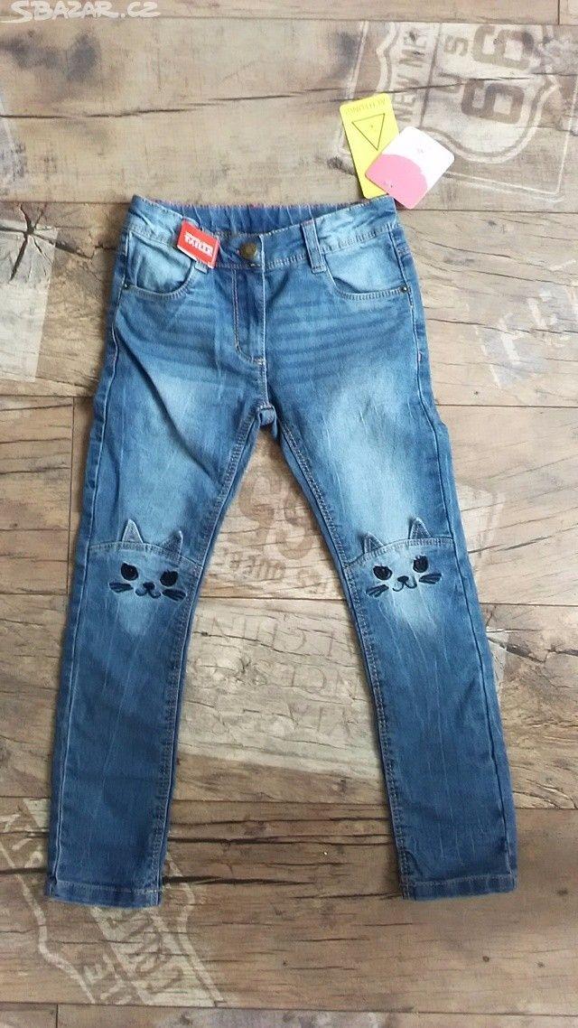 Nové džíny,rifle s kočičkou zn.Topolino 116 - obrázek číslo 1