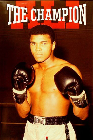 """A great poster of Muhammad Ali! The epitome of """"Champion"""" and The Greatest heavyweight boxer of all time. Fully licensed. Ships fast. 24x36 inches. Our awesome selection of Muhammad Ali posters will k"""