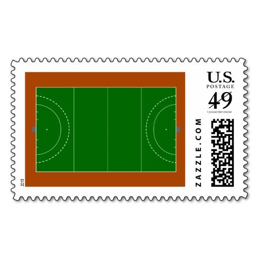 Field hockey pitch stamp