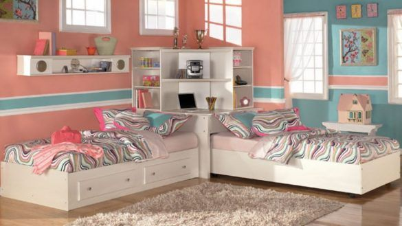 Interior Two Beds In Small Room Attractive One How To Arrange A Bedroom With Intended For 7 From Two Be Twin Girl Bedrooms Twin Bedroom Sets Kids Bedroom Sets