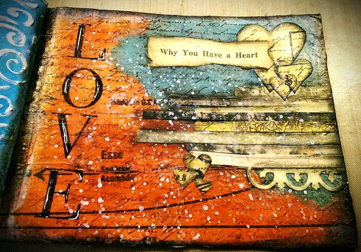 Mixed Media Mini Art Journal Series Page #24 - Love