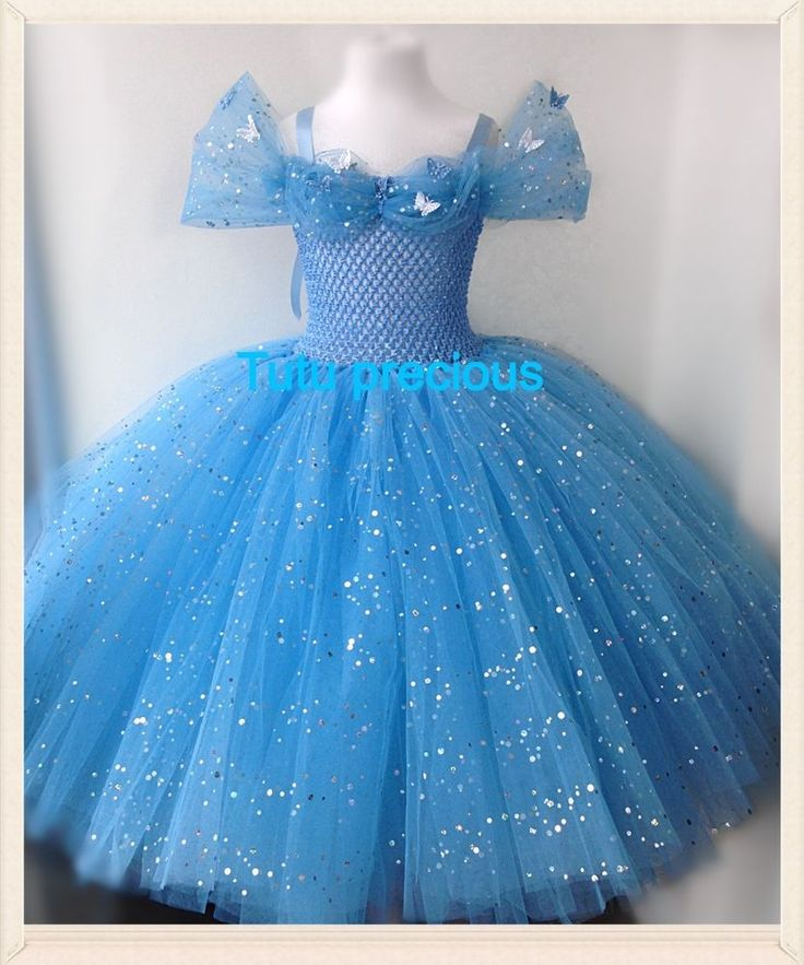 Details about Disney Inspired Cinderella Tutu Dress - Dressing up / Costume