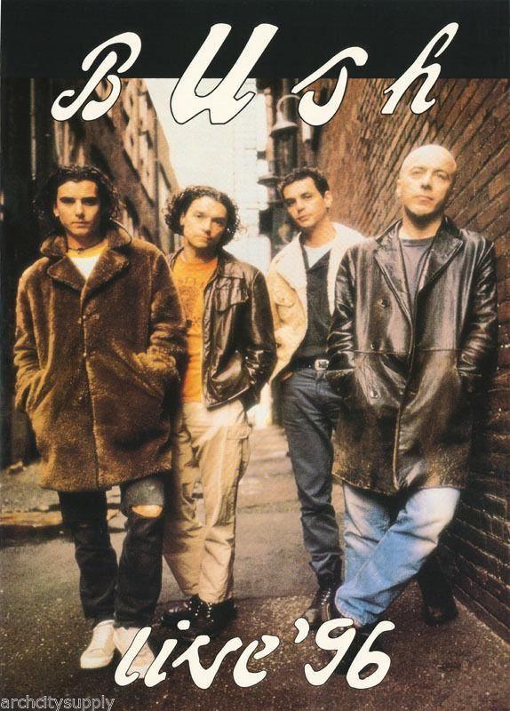 Bush Band Live 1996 Rare Poster
