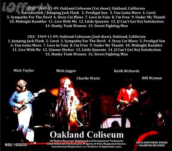 Risultati immagini per rolling stones - live at oakland coliseum 1969