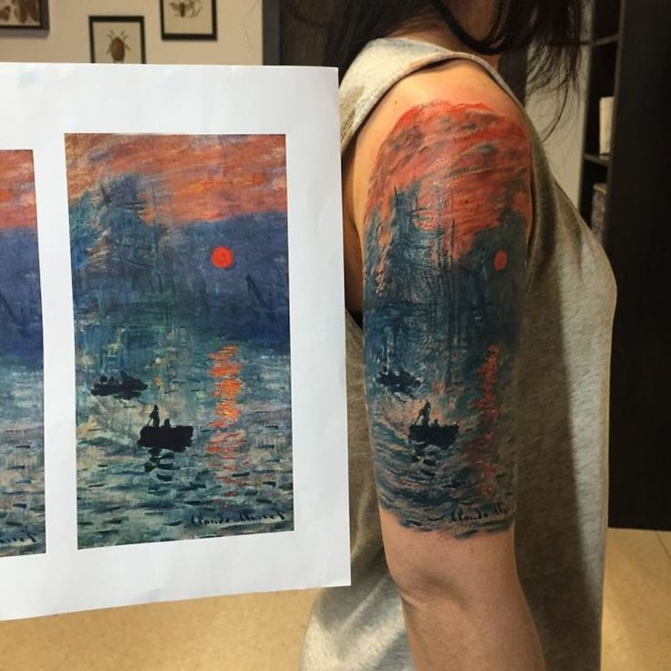 Monet tattoo by lucafedato