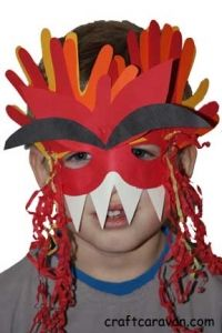 Chinese New Year Year of Dragon Mask Craft