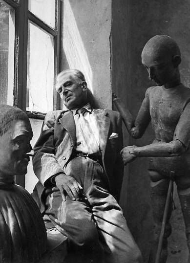 Italian painter Felice Casorati // by Herbert List