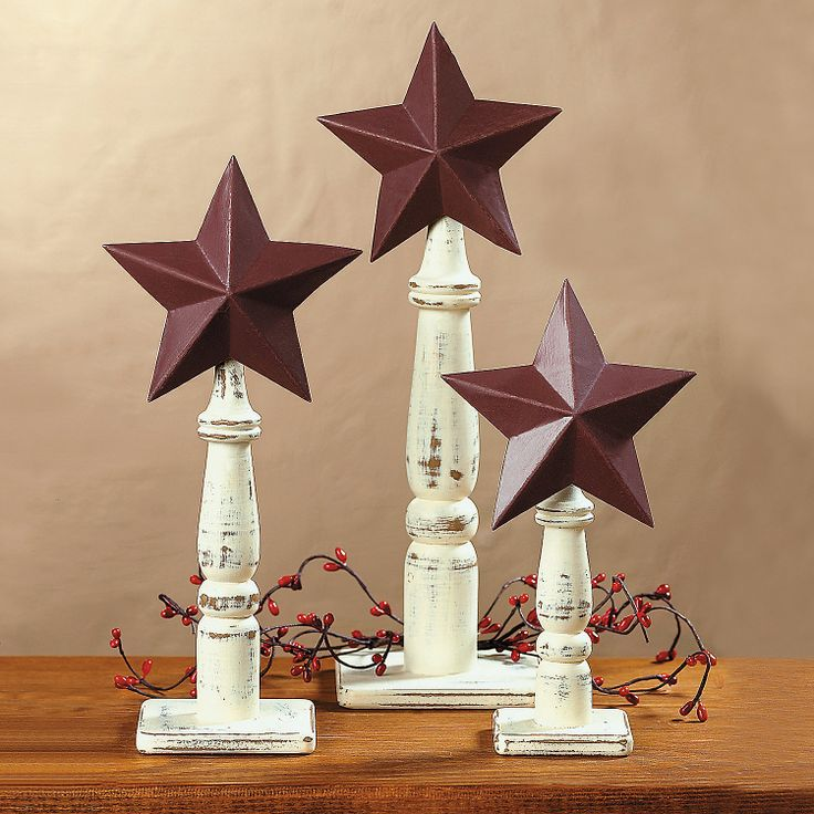 Stars on spindles these would make a for Wooden finials for crafts