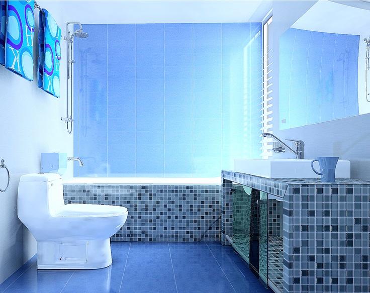 #intericad #3d #interiordesign   New Bathroom with a beautiful lighting