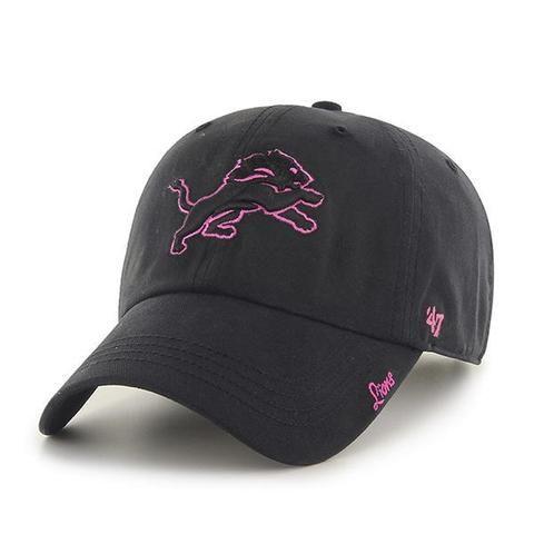 c6cb67fecae NFL Detroit Lions Women s Miata Black and Pink Clean Up Hat ...
