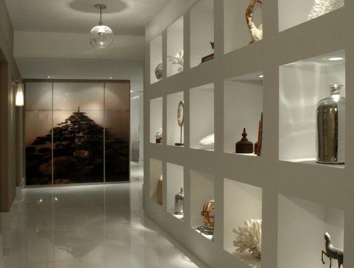Les 20 meilleures id es de la cat gorie couloir blanc sur for Decoration niche murale