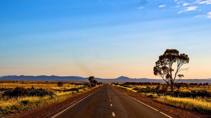 Long straight roads, love them!