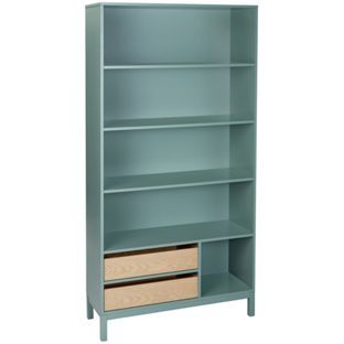 buy habitat elder green bookcase at argos co uk