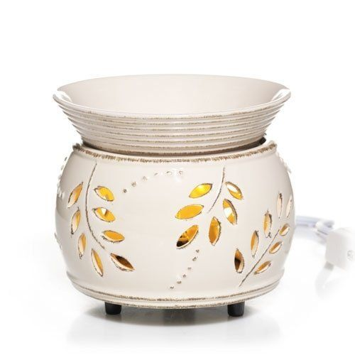 Yankee Candle Everyday Ceramic Leaf and Berry Electric Wax Melts Warmer with LED -- Click image for more details from Amazon.com