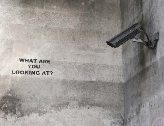 Banksy Poster Print - What Are You Looking At? - Multiple Paper Sizes