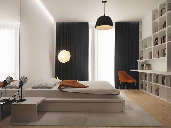 Bedroom With Bookshelf