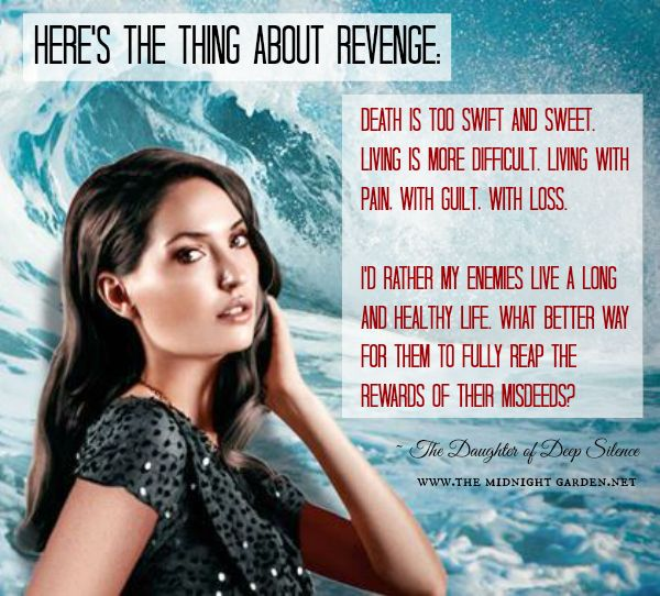 Download quotes from Carrie Ryan's darkly soapy revenge thriller A DAUGHTER OF DEEP SILENCE + win a hardcover from The Midnight Garden!