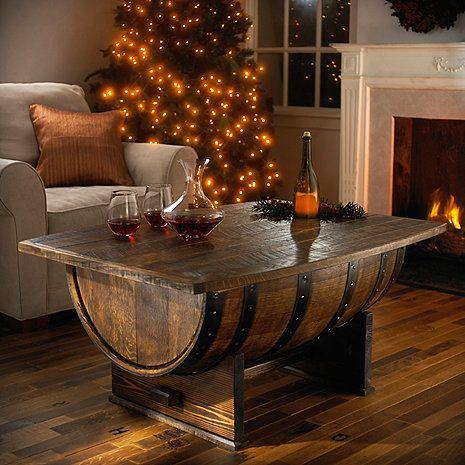 Whiskey Barrel Liquor Cabinet   ... wine barrel furniture handmade oak whiskey barrel coffee table