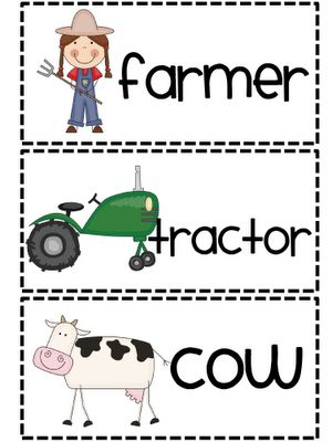 Farm Unit - You can add these picture cards to your word wall, pocket chart center, or writing center.