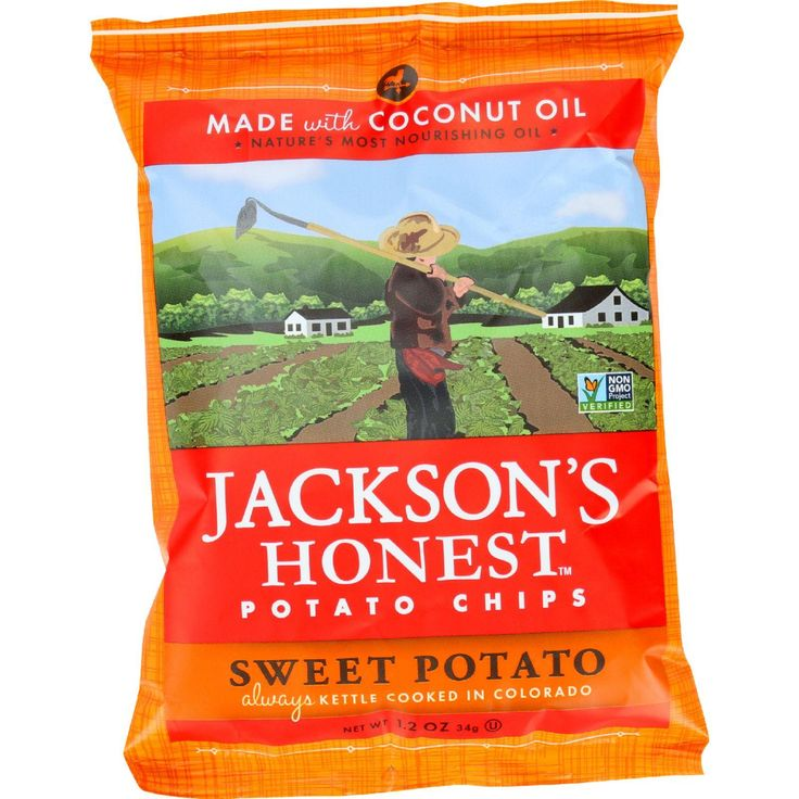 Jacksons Honest Chips Potato Chip Sweet Potato 1.2 Oz Case Of 36