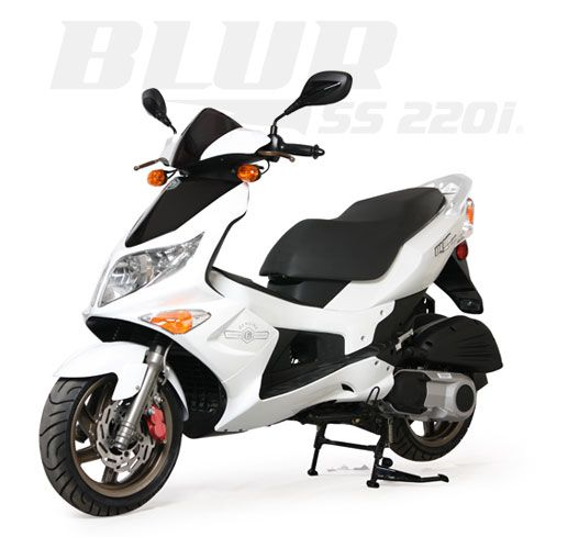 genuines cooters Blur SS 220i Seat Height ? Engine 220.1 4-Stroke Fuel Injected, M.S.R.P. $3,999.00 78 mpg*