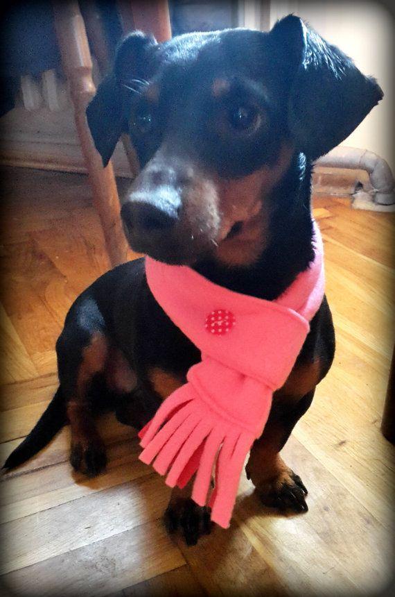 Dog Scarf Fleece light Pink Cat Scarf Pet Neckwear by PinkBau