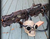 Steampunk Gun and Goggles HALO Nerf LongShot CS 6  Gun soft dart toy ZOMBIE Fall Out gothic tommy gun