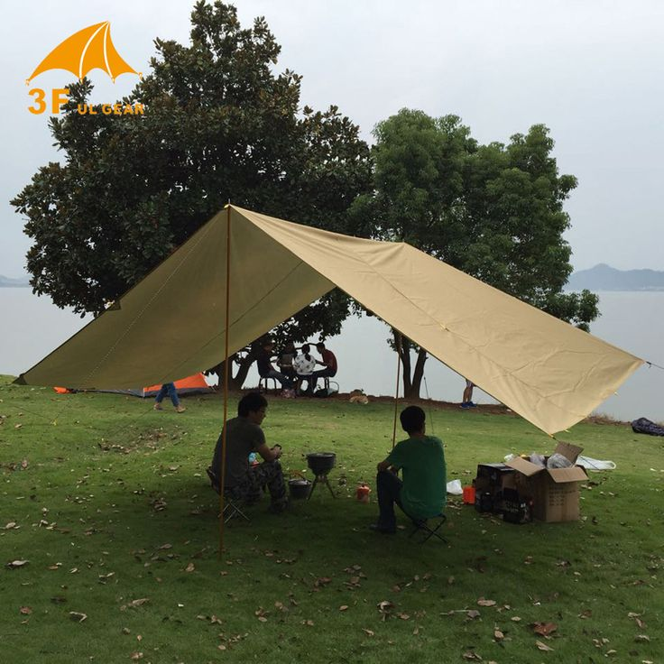 Anti UV 3F UL Gear 43m 210T With Silver Coating Outdoor Large Tarp Shelter