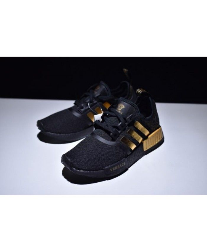 low priced aca3f 94b03 Suitable Adidas NMD R1 Men S Black Gold BA7250 Shoes Sale