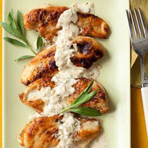 12 30-minute chicken dishes:  Chicken with Creamy Mustard Sauce