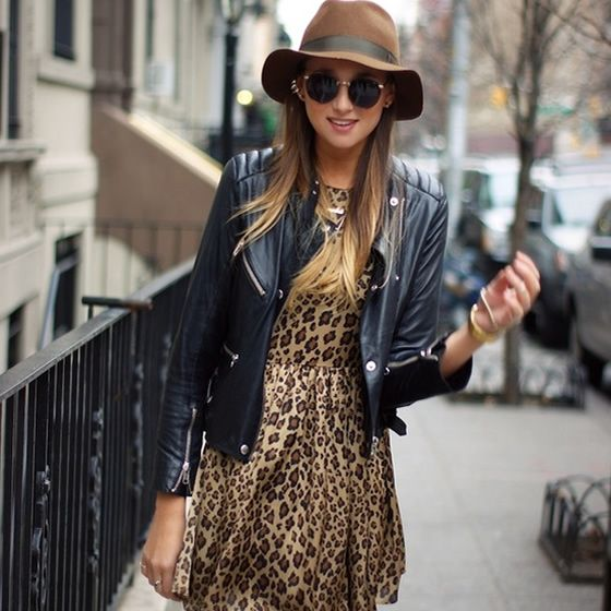 You know I live my animal print! Love it paired with a leather jacket. Gives it an edgy look. Love!!!!