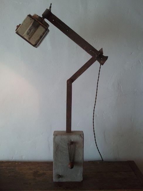 "Old coffee grinder transformed to make a light by ""Atelier bois d'Âme""."