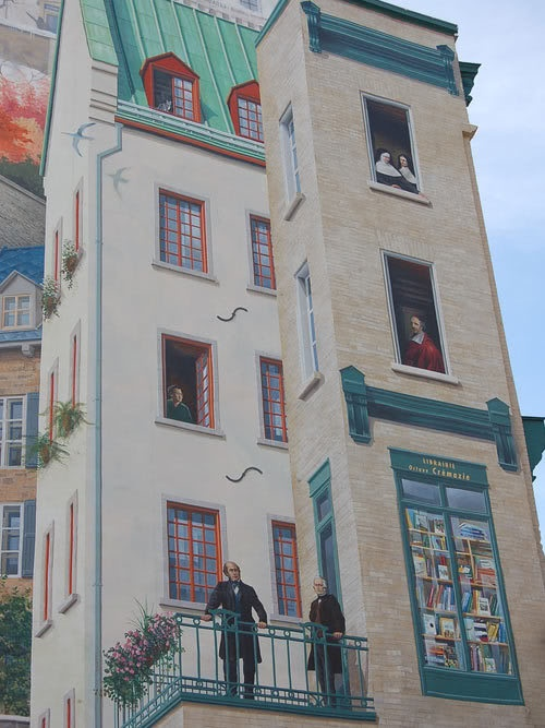 1000 images about pintando paredes on pinterest 3d for Mural quebec city