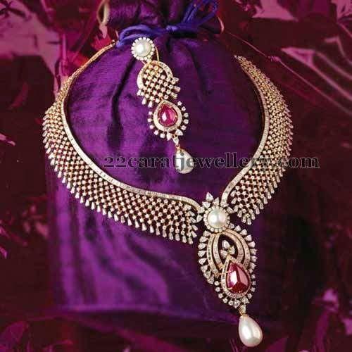 Jewellery Designs: Opulent Diamond Set by TBZ