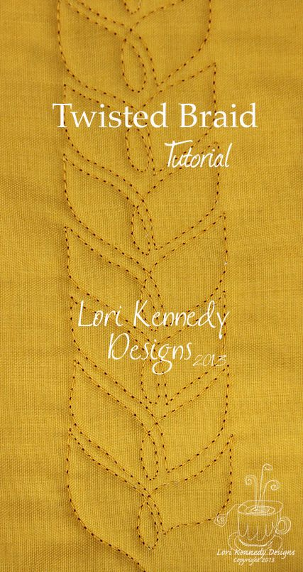 Wheat Braid, Free Motion Quilt Tutorial from Lori Kennedy at The Inbox Jaunt