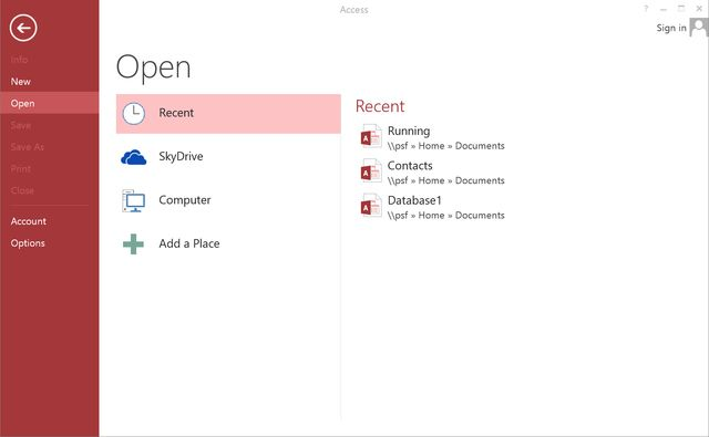 Creating Forms in Microsoft Access 2013: Open Your Access Database