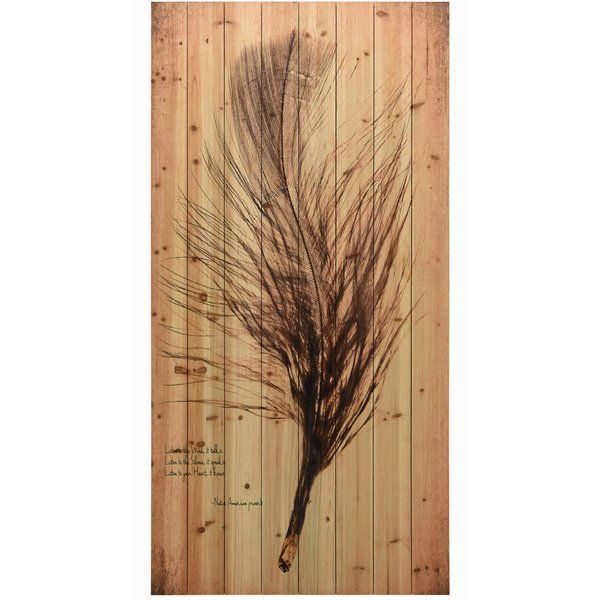 Feather On The Wind 2 Print On Wood Traditional Wall Art Wood Print Wood Wall Art