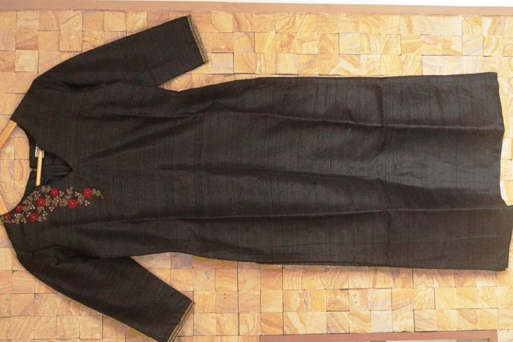Women's Black Plain Solid Kurti Top Kurta Tunic Indian Ethnic Casual Wear