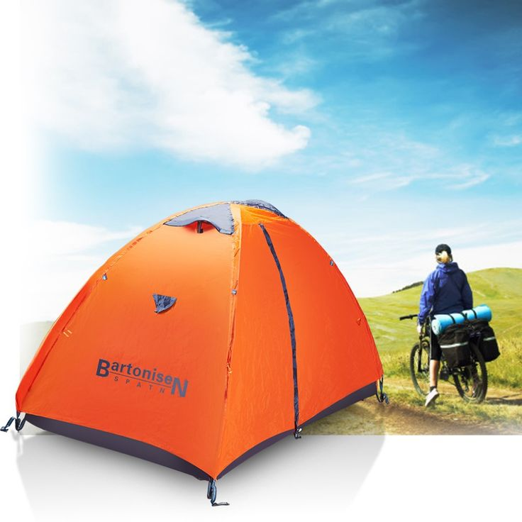 camping beach tourist tent family no tax 2-5 days to EU orange 1-2 person double layer 190T Polyester type door 200*140*110cm -- Check out this great image @ http://performance.affiliaxe.com/aff_c?offer_id=11422&aff_id=86258&source=http://www.aliexpress.com/item/orange-1-2-person-double-layer-camping-tourist-tent-190T-Polyester-D-type-door-staff-EU/32686949526.html&alv=160716020705