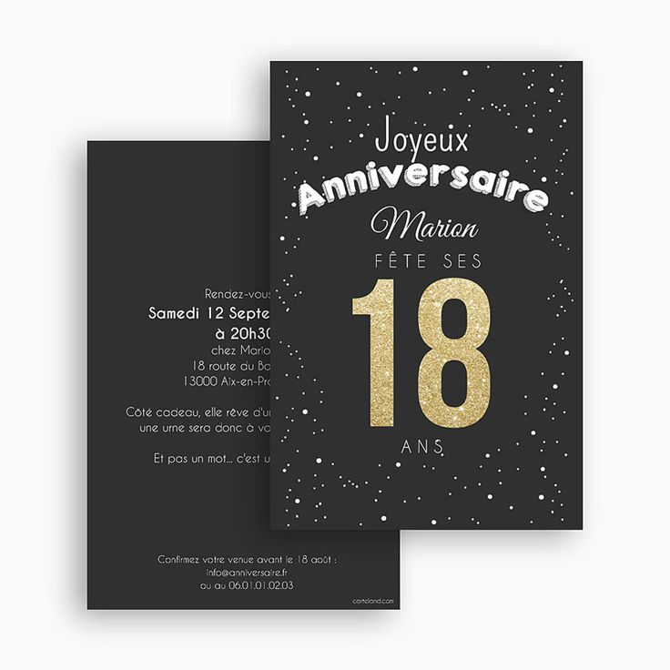 1000 ideas about carte invitation anniversaire adulte on pinterest invitat. Black Bedroom Furniture Sets. Home Design Ideas