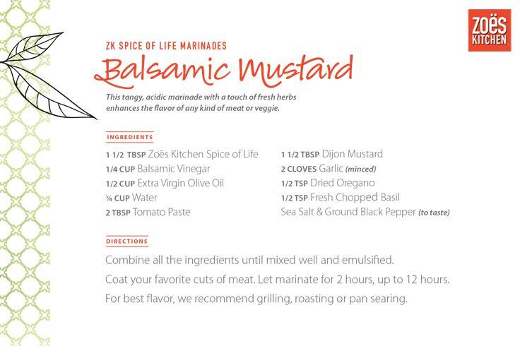 Zo 235 S Kitchen Spice Of Life Mediterranean Marinade