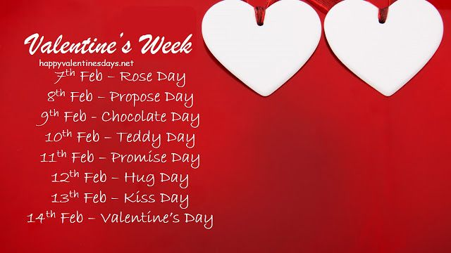 7 Feb To 21 Feb Days List Check Valentine S Week List 2020
