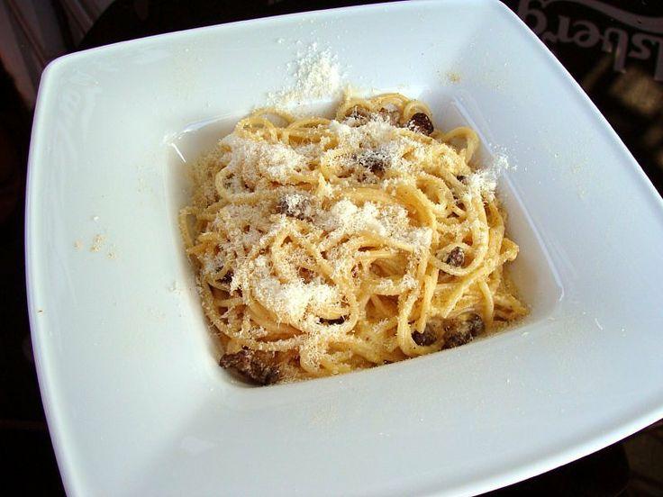 Spaghetti a la carbonarra
